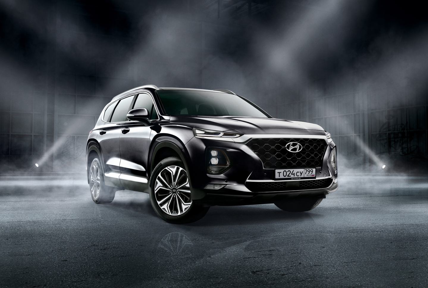 Hyundai Santa Fe Black Brown 2020